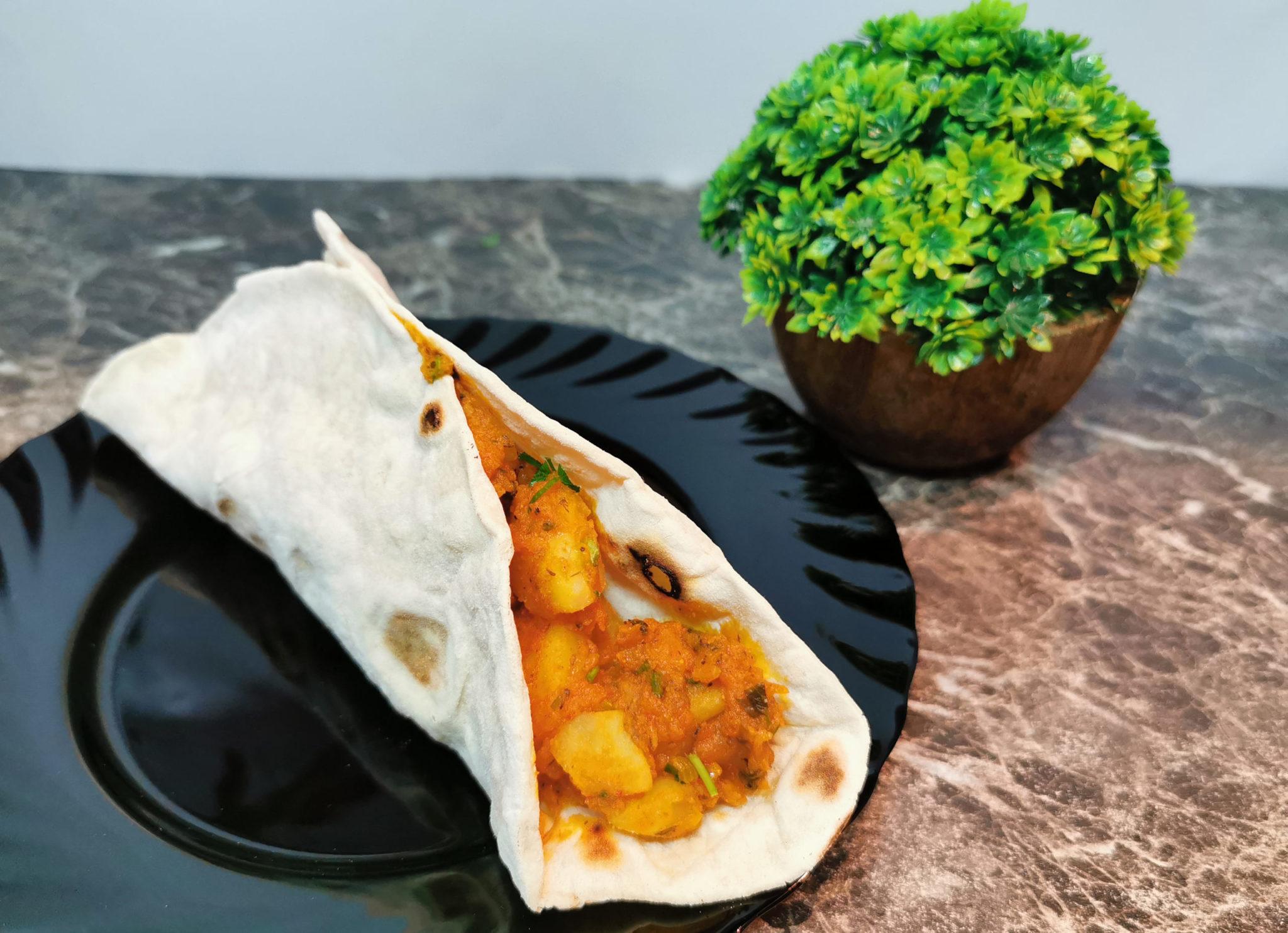 roti curry cartofi