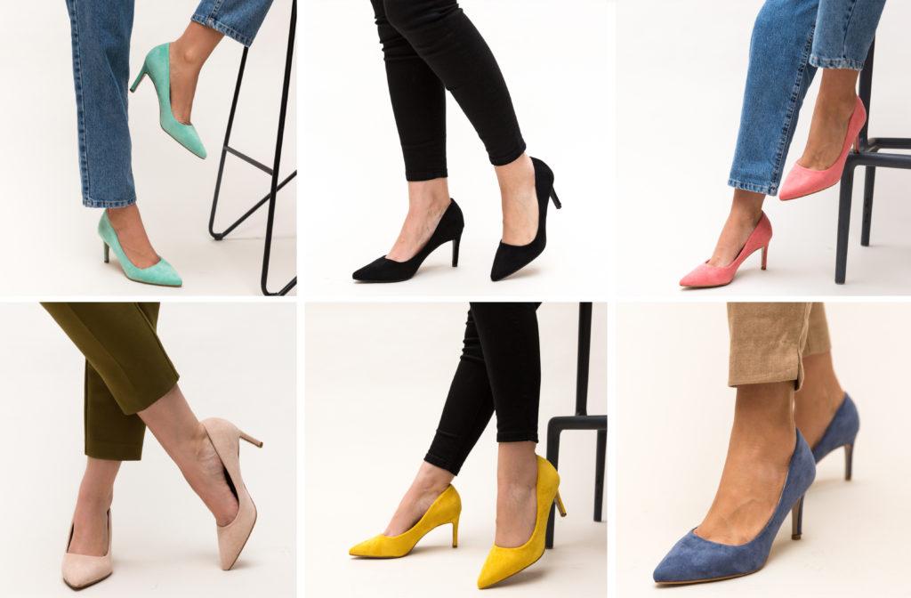 pantofi toc mic